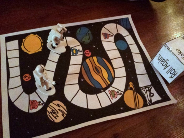 Space Race Free Printable Board Game