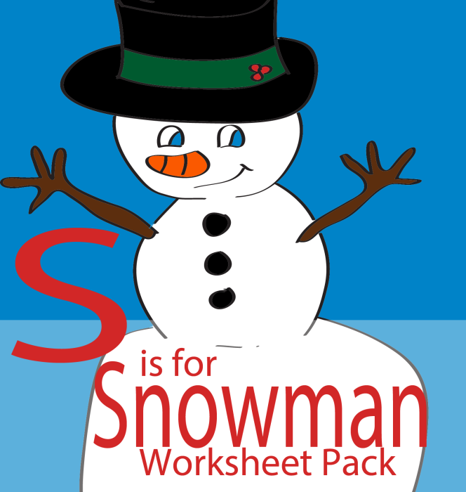 S is for Snowman Free Printable Preschool and Toddler Worksheets ...