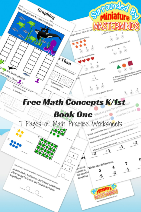 Free-Math-Concepts-K-1st-Book-One7-Pages-of-Math-Practice-Worksheets