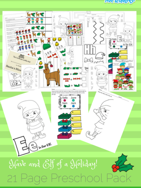Have and Elf of a Holiday! 21 Page Free Preschool Printable Activity Pack