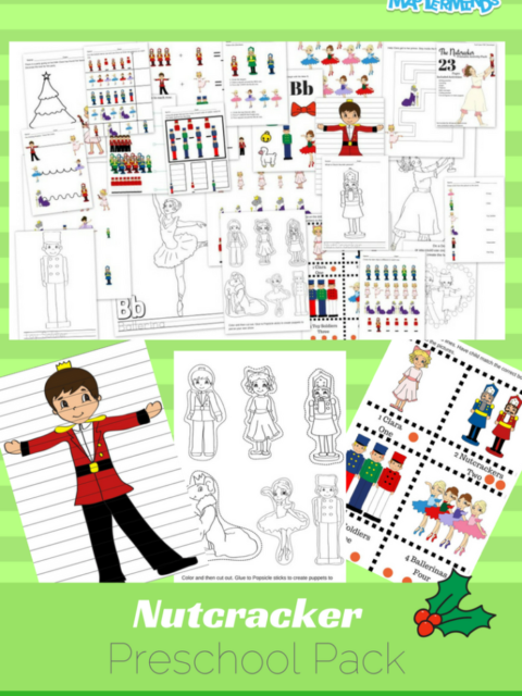 The Nutcracker Preschool Free Printable Worksheet and Activity Pack - 23 Pages