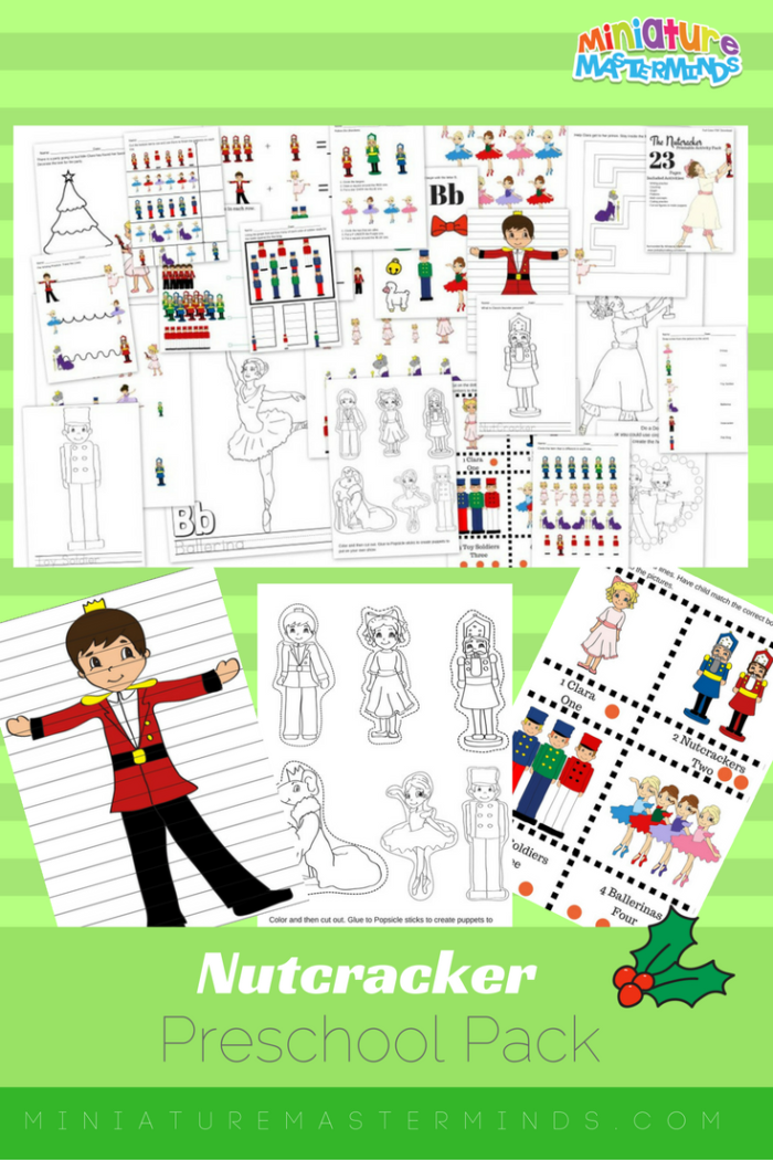 The Nutcracker Preschool Free Printable Worksheet And Activity Pack