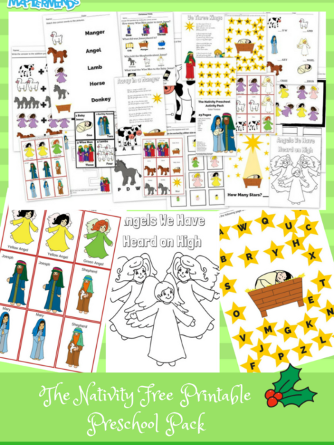 THE NATIVITY FREE PRINTABLE PRESCHOOL PACK 23 PAGES- Full Color VERSION