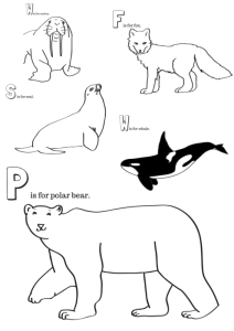 Arctic Animals Printable Coloring Pages  Miniature Masterminds