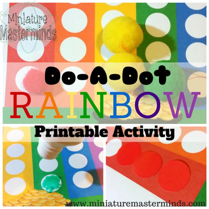 Rainbow Do a Dot Printable Activity