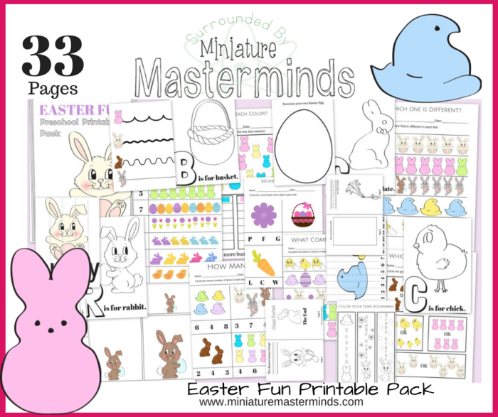 33 Pages Of Easter Fun Free Preschool And Toddler Printable