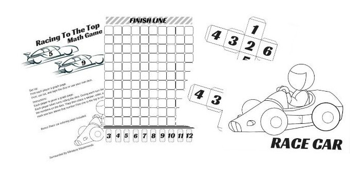 Sight Word Race Car Game