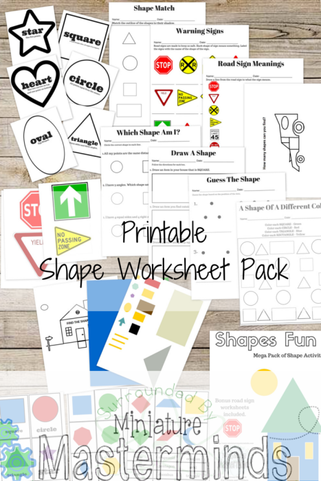 Free Printable Mega Shapes Practice Pack