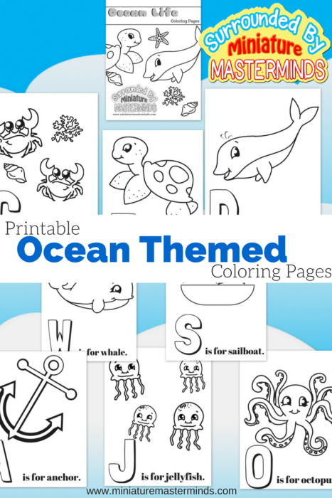 Free Printable Ocean Themed Coloring