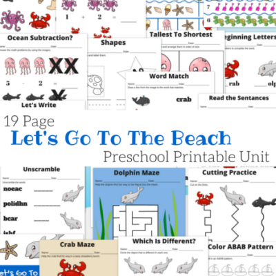 19-Page-Preschool-Printable-Unit-Lets-Go-To-The-Beach-Ocean-and-Beach-Themed-Pack