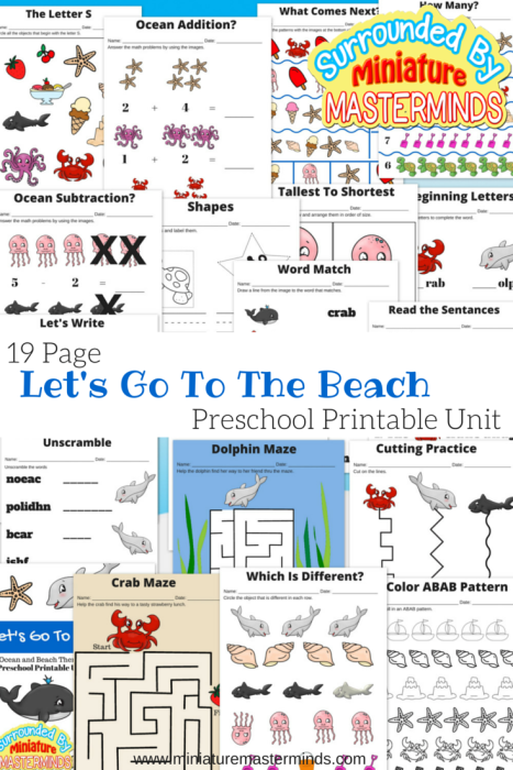 Preschool Ocean Theme Activities