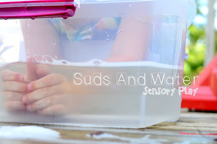 Suds and Water Sensory Play