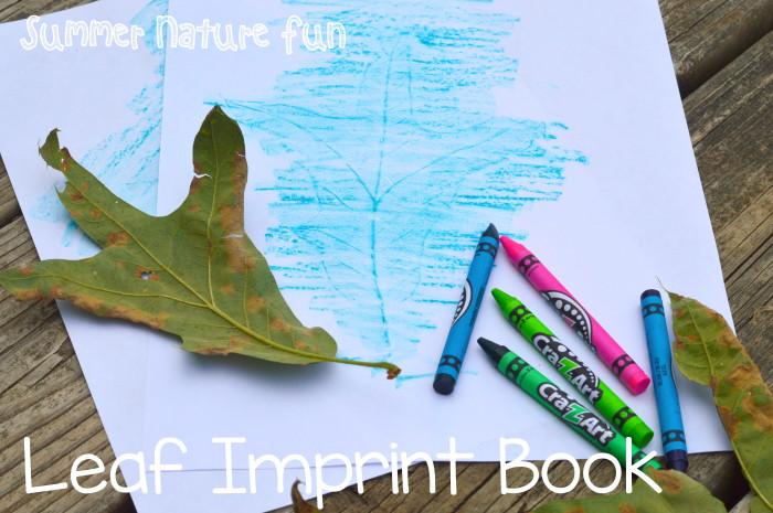 Summer Nature Fun Leaf Imprint Book
