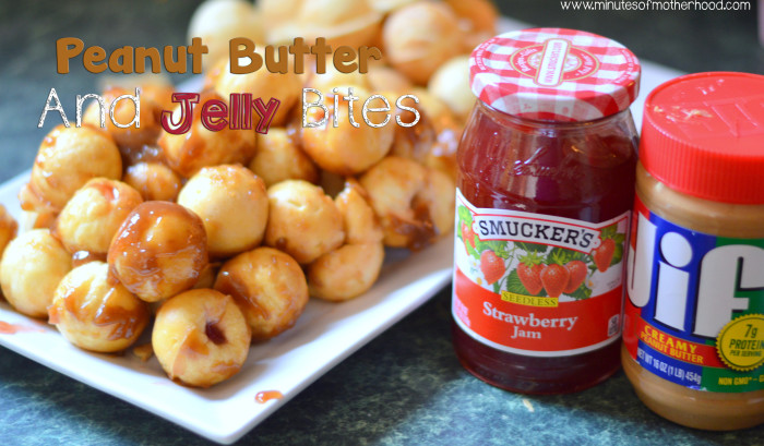 Peanut Butter And Smucker's Strawberry Jam Bites – Our Snackation