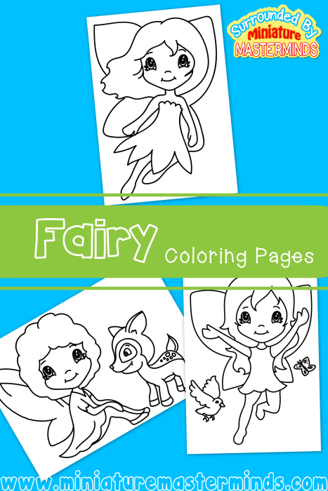 three free fairy printable coloring pages miniature masterminds. Black Bedroom Furniture Sets. Home Design Ideas