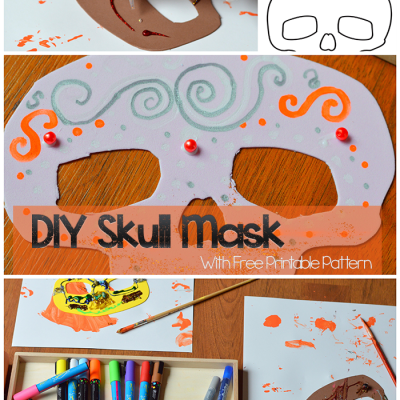 Diy Skull Mask With Free Printable Pattern