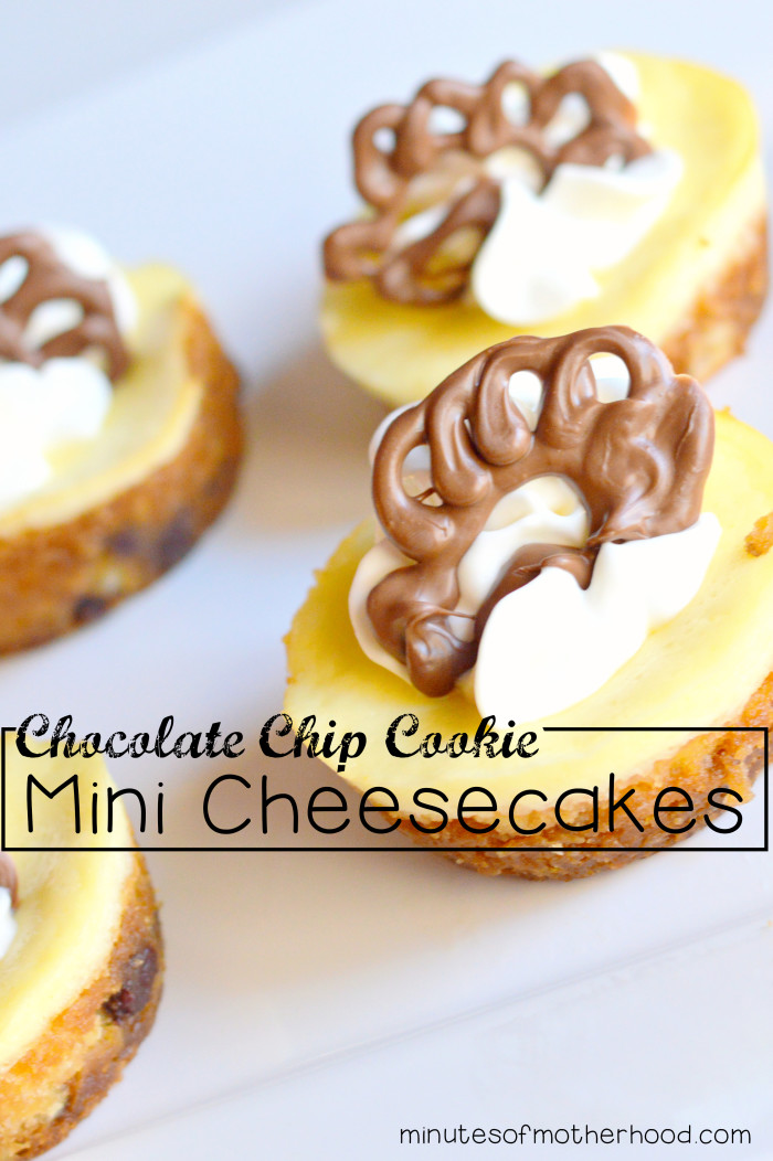 Chocolate Chip Cookie Mini Cheesecakes With Chocolate Turkeys