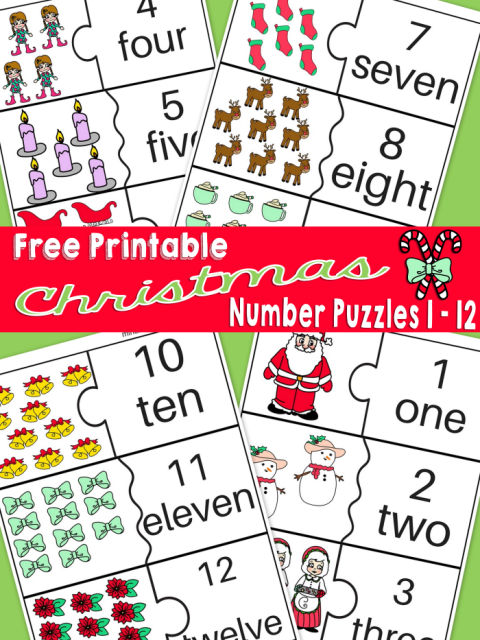 Free Printable Christmas Themed Number Puzzles