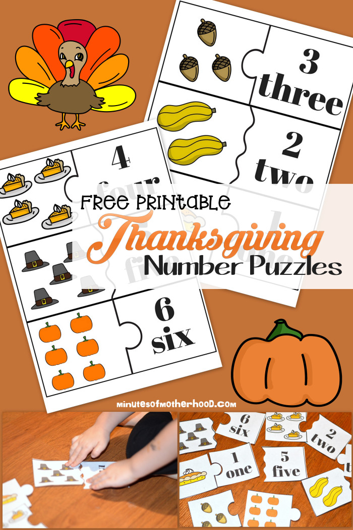 photo about Number Puzzles Printable known as No cost Printable Thanksgiving Quantity Puzzles 1 - 12