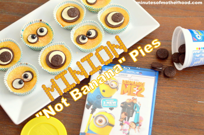 "Family Fun Movie Night with Minion ""Not Banana"" Pies and Despicable Me 2"