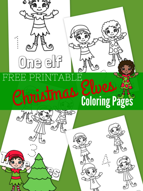 Free Printable Christmas Elves Coloring Pages