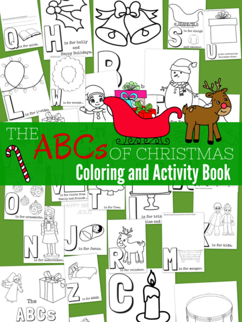 The ABCs of Christmas Free Printable Coloring and Activity Book