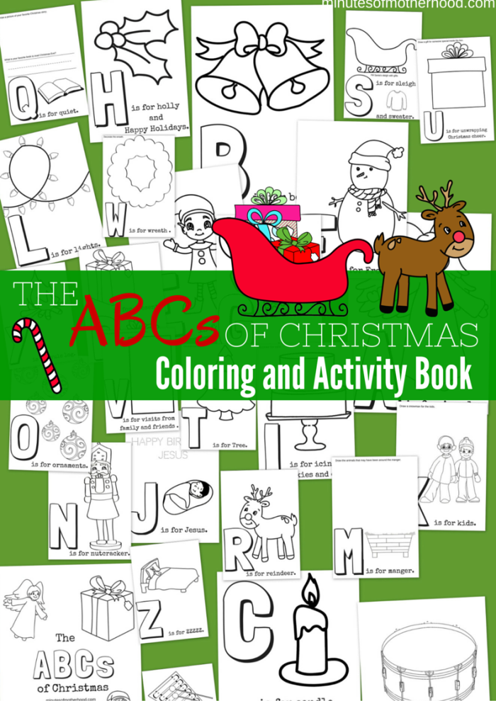 Free Printable The ABCs of Christmas Coloring and Activity Book