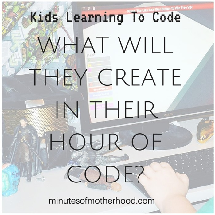 Kids Learning To Code – What Will They Create In Their Hour Of Code?