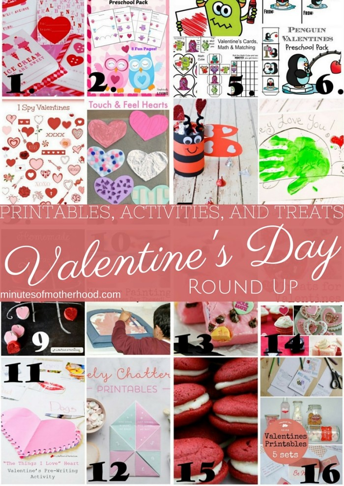 16 Valentine's Day Printables, Activities, and Treats Round Up ...