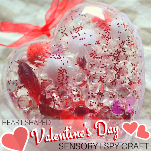 Heart Shaped Valentine's Day Sensory I Spy Craft 1