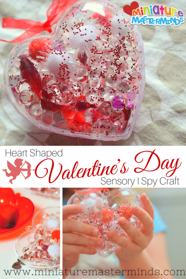 Heart Shaped Valentine's Day Sensory I Spy Craft