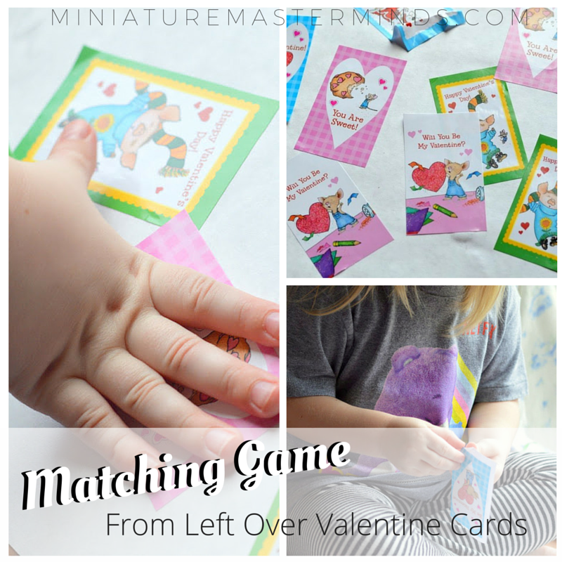 Matching Game From Left Over Valentine Cards 1