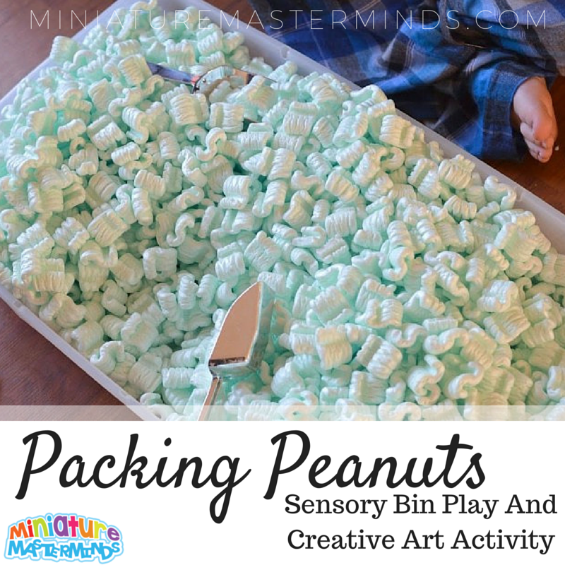 Packing Peanuts Sensory Bin Play And Creative Art Activity 1 (2)