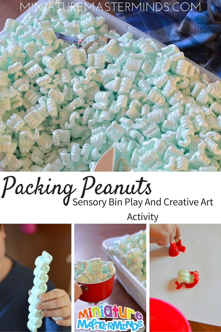 Packing Peanuts Sensory Bin Play And Creative Art Activity (1)
