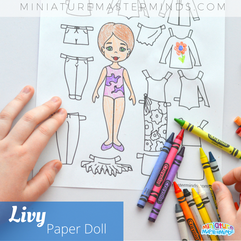 Printable Livy Paper Doll From Miniature Masterminds 1