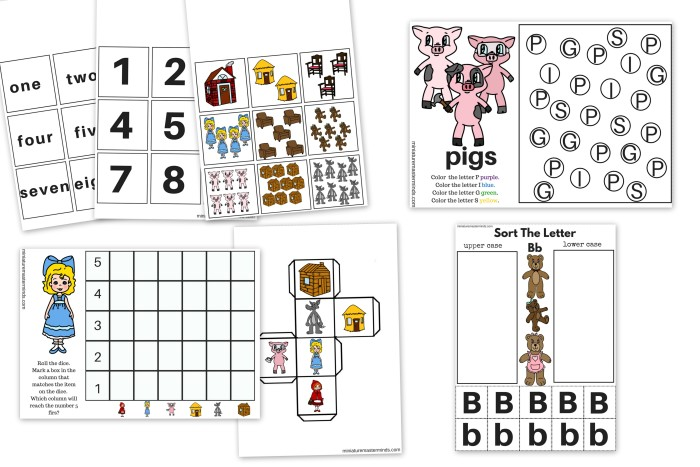 Story Book Characters 30 Pages Printable Activity Book