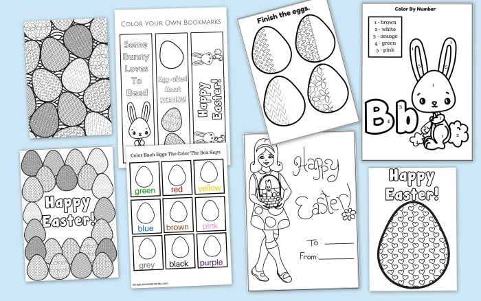 59 Page Printable Easter Activity Pack