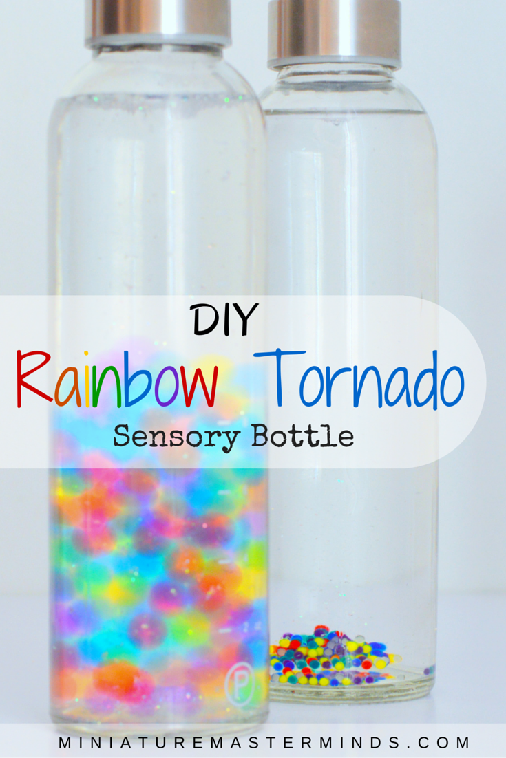 DIY Rainbow Tornado Sensory Bottle
