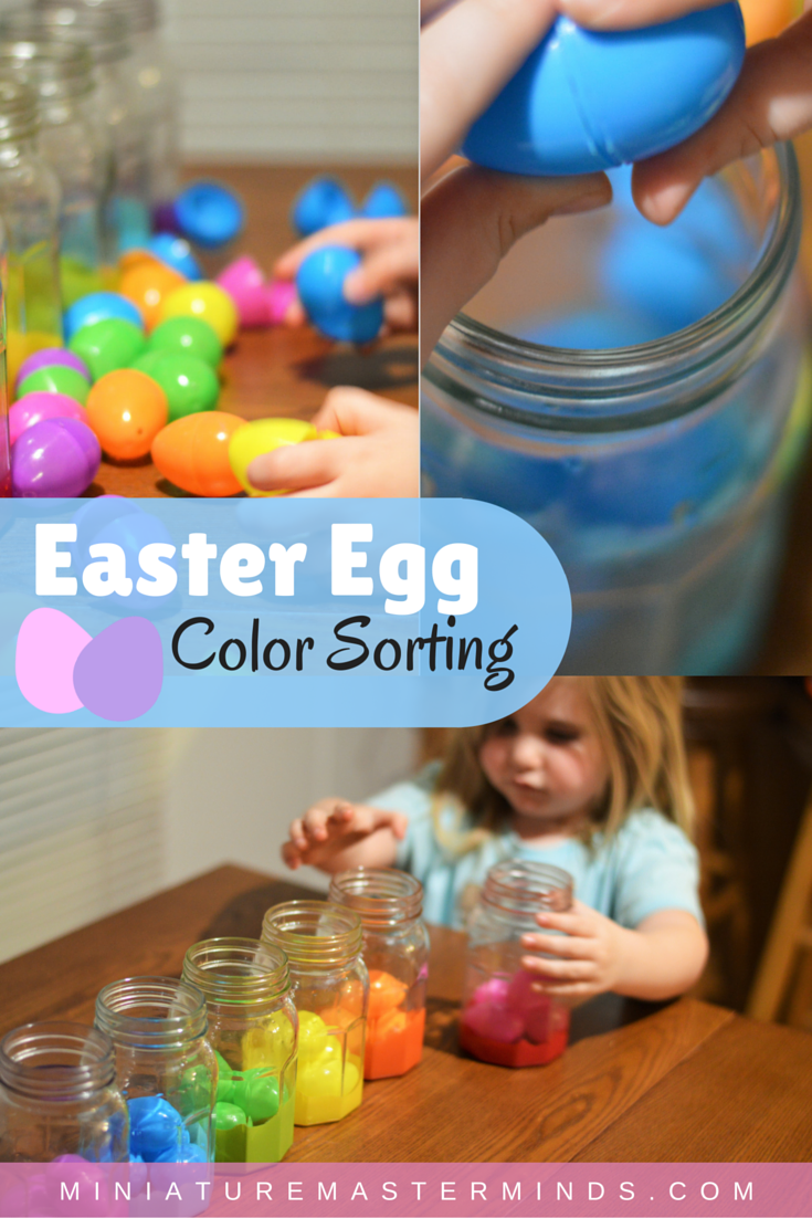 Easter Egg Color Sorting Activity