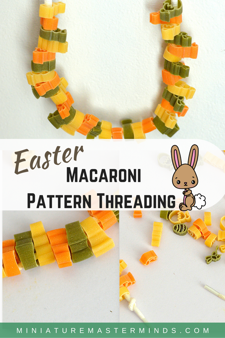 Easter Macaroni Pattern Threading
