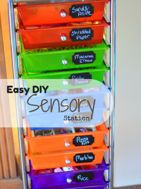 Easy DIY Sensory Station