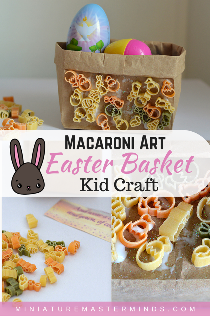 Macaroni Art Easter Basket Kid Craft