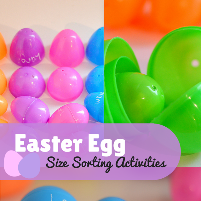 Plastic Easter Eggs Size Sorting Activities