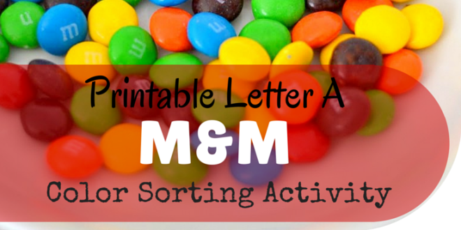 Printable Letter A M Amp M Color Sorting Activity Miniature