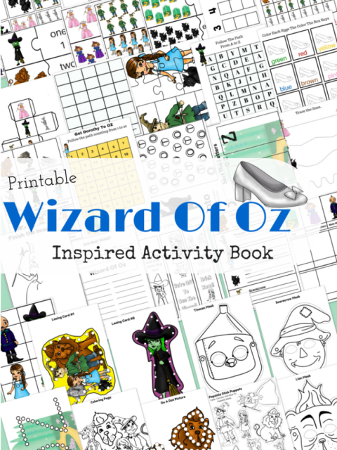 Printable Wizard of Oz Inspired Activity Workbook