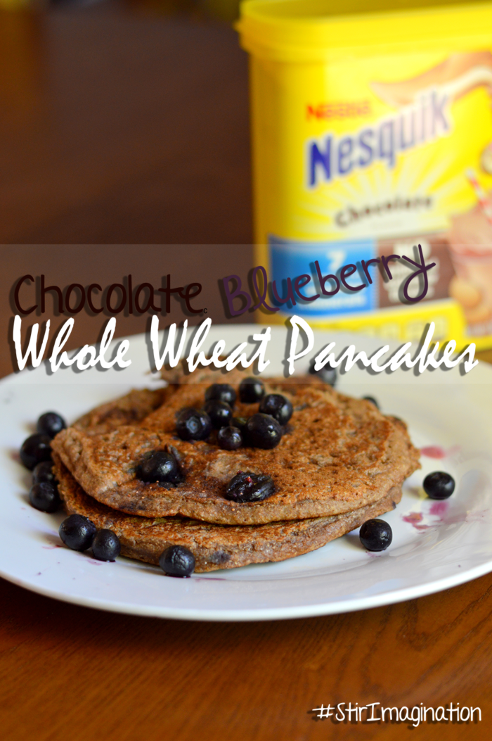 StirImagination Breakfasts Blueberry Chocolate Whole Wheat Pancakes