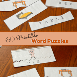 60 Printable Word Puzzles