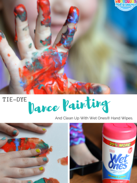 Tie-Dye Dance Painting And Clean Up With Wet Ones
