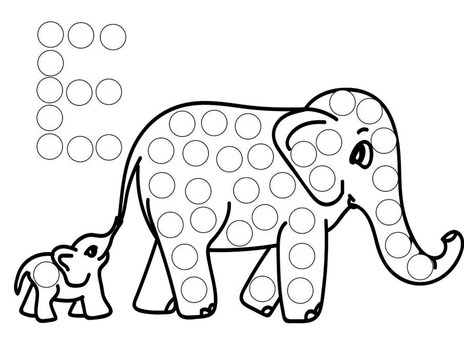 dot coloring pages - dot dauber printable coloring pages dot best free