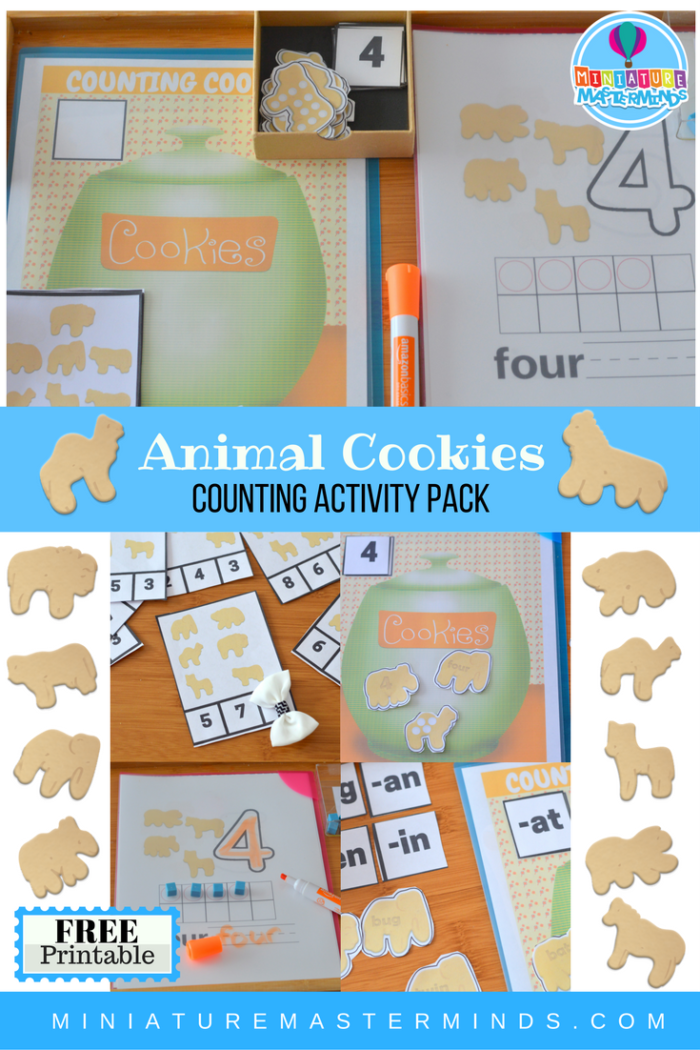 Animal Cookie Free Printable Counting And Word Family Activity Pack ...